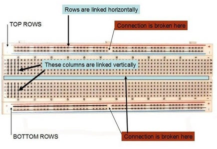 Understanding How a Breadboard Works (optional If You Are Not Using a Breadboard)