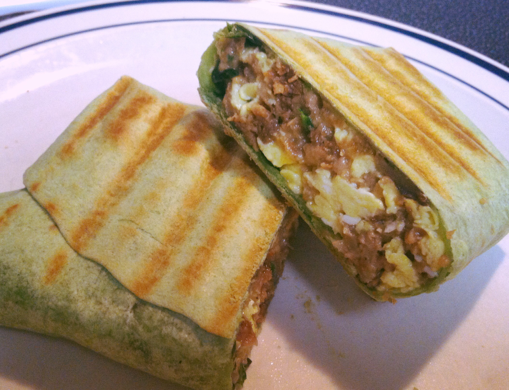 Protein Packed Grilled Breakfast Burrito