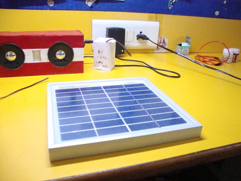 Solar Powering the Speakers (Optional)