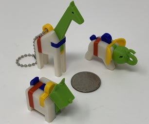 """A Trio of """"Keychain Puzzles""""."""