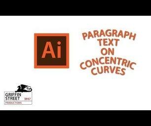 Paragraph Text on Curves - Adobe Illustrator - Thread Text on Path