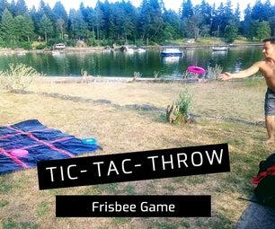 DIY TIC-TAC-TOSS FRISBEE游戏