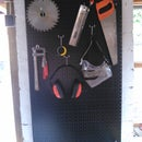 Building a Tool Wall Mount with an old Storage Rack Back