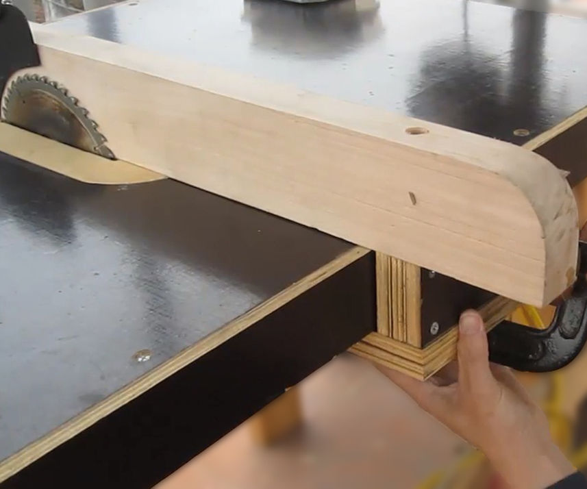 How to make a table saw - Making the Fence