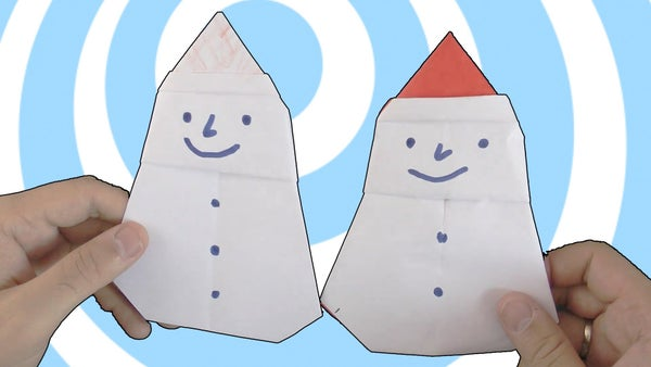 Origami Snowman Instructions