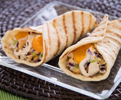 Grilled Cashew Chicken Wraps