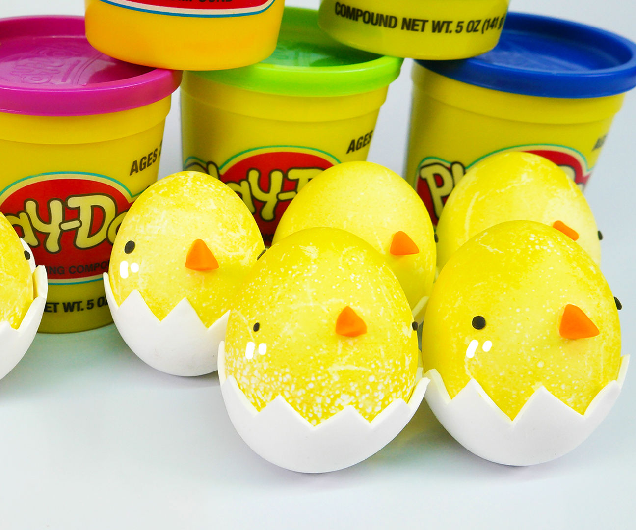 How to Make Edible Coloring Chick Easter Eggs - Play Doh + Clay
