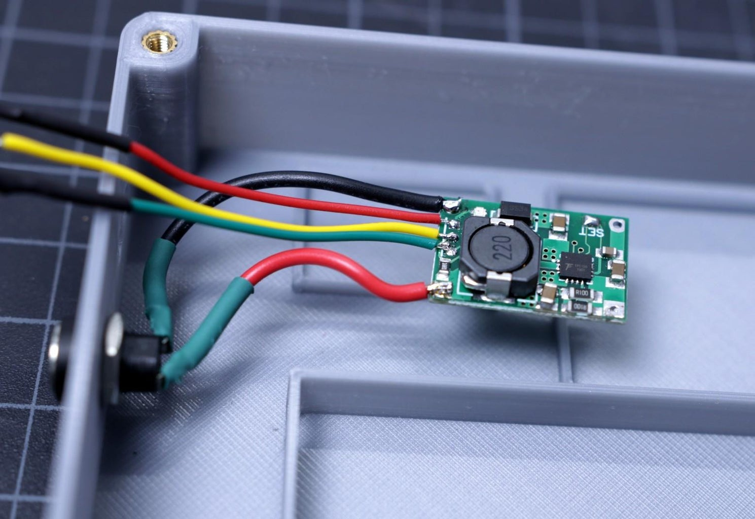 Connect the Input DC Jack to TP5100