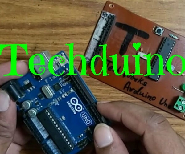 Techduino ||How to Make Your Own Homemade Arduino Uno R3||