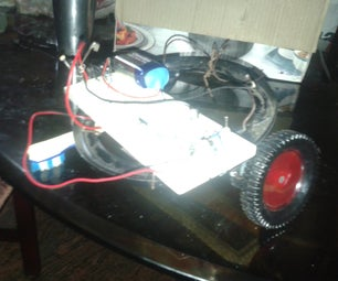 LIGHT FOLLOWING SIMPLE SPURT ROBOT IN ACTION