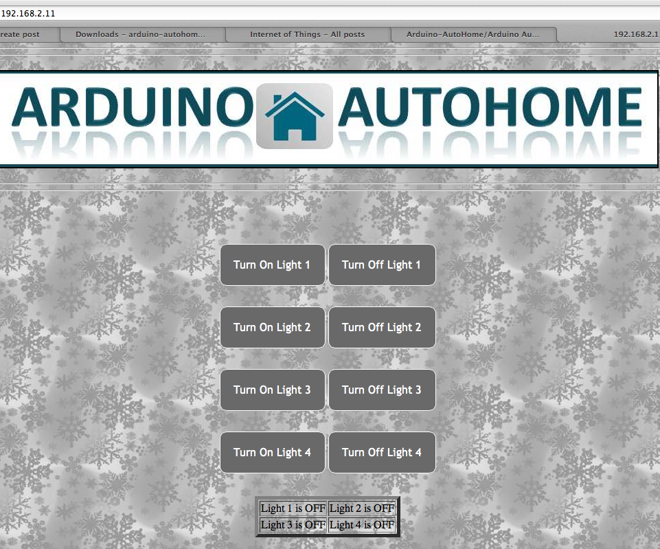 Home Automation DIY project using Arduino UNO & Ethernet Shield