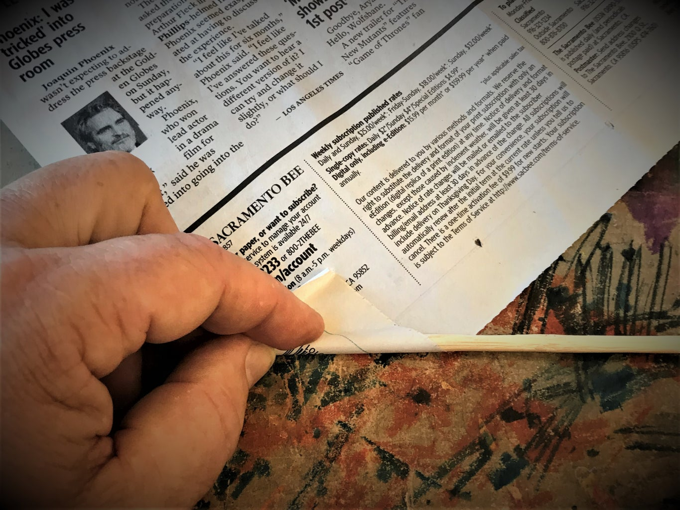 Rolling the Newspaper Tube