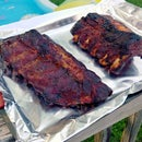 Smokey BBQ Ribs on Gas Grill