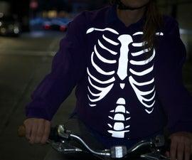 DIY Reflective Cycling Sweatshirt - Skeleton and Japanese Demon