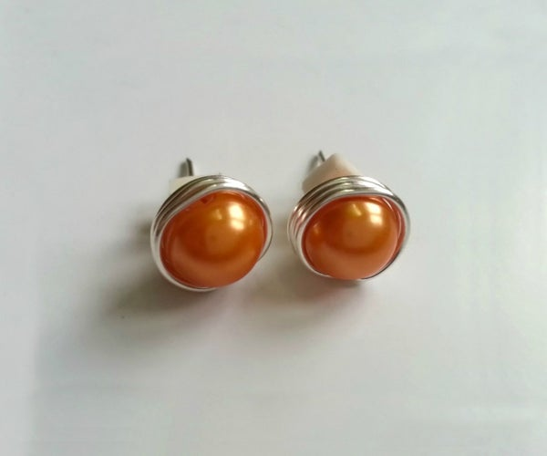 DIY Bead Stud Earrings