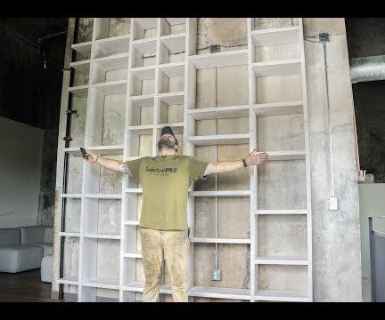 How to Make a 13ft Tall Bookcase
