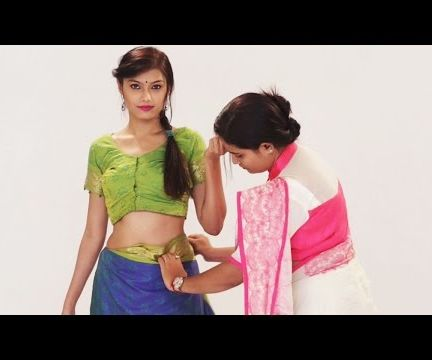 How to Wear Indian Style Silk Saree in 2 Mins for Wedding - Look Slim and Tall with Thin Perfect Pleats