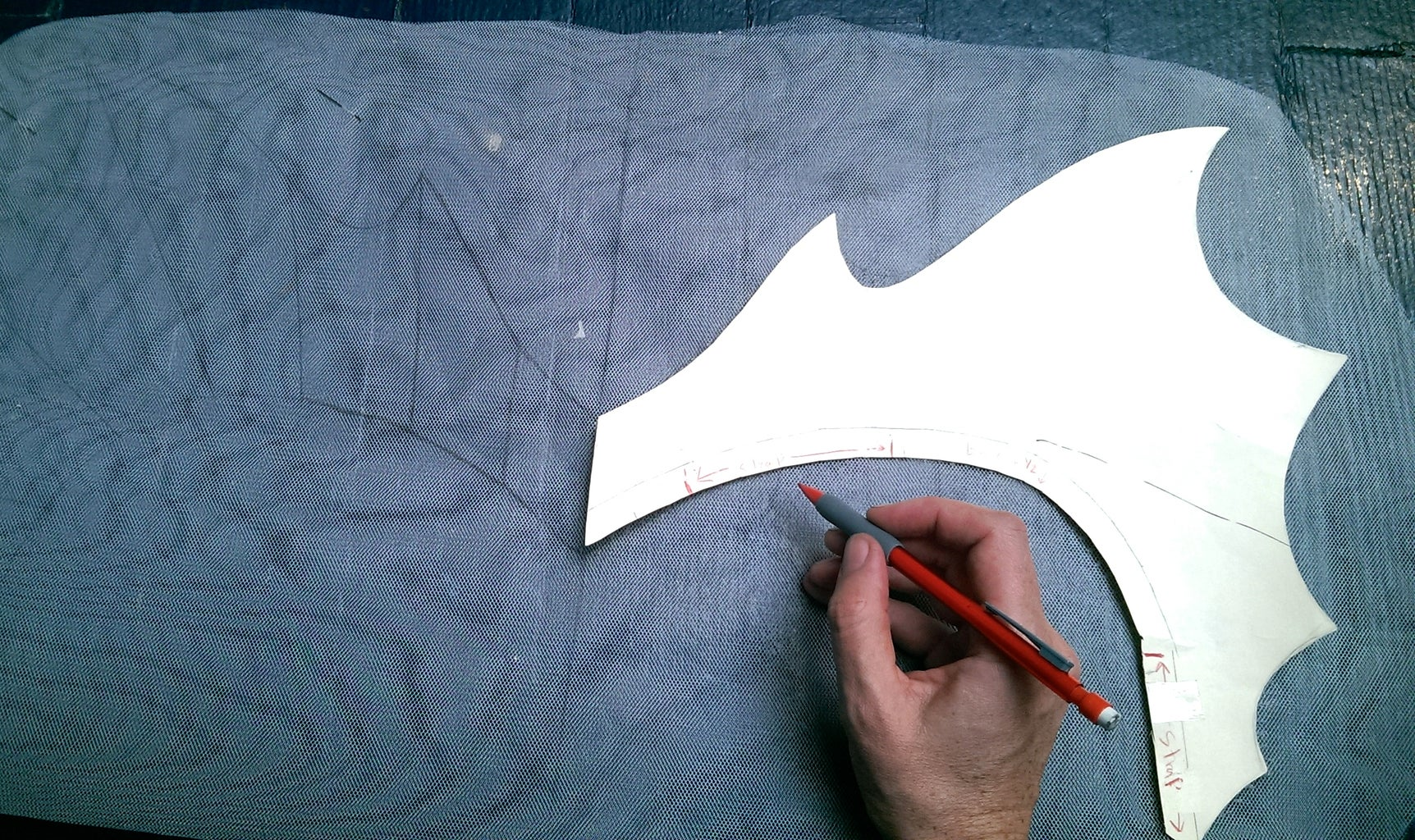 Sewing the Fins