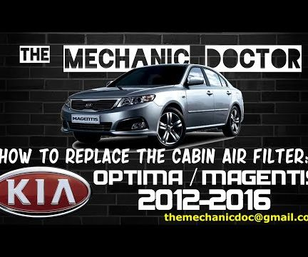 How to Replace the Cabin Air Filter: Kia Optima/Magentis 2008-2010