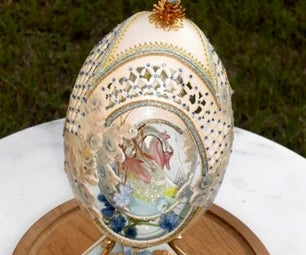 Swan Double Egg - Faberge' WannaBe