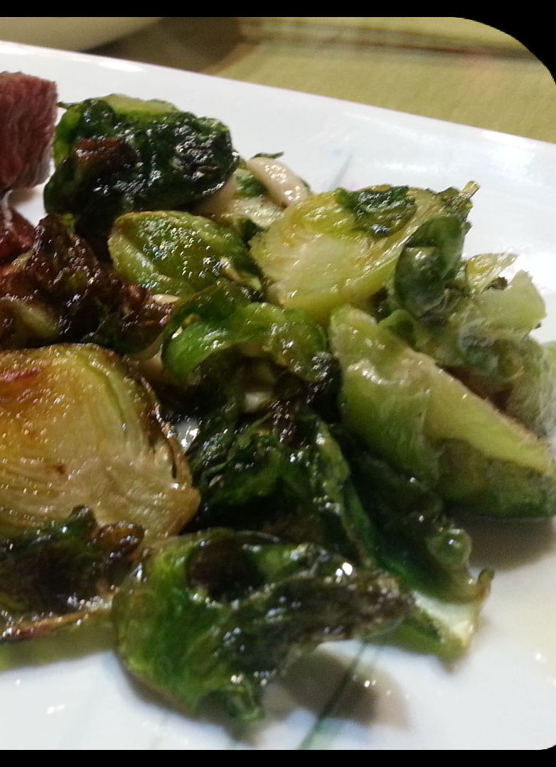 Honey Almond Brussels Sprouts