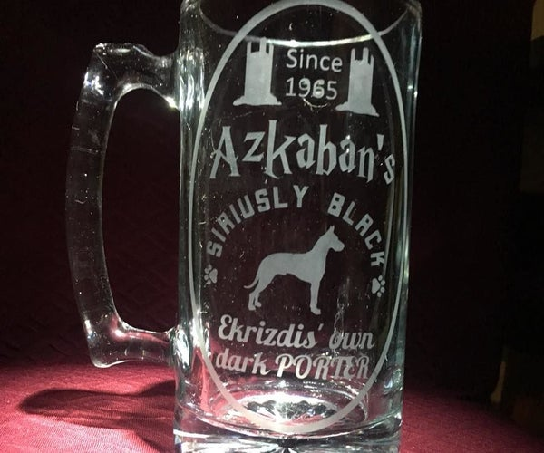 Expensive Looking Sandblasted Glassware on the CHEAP!