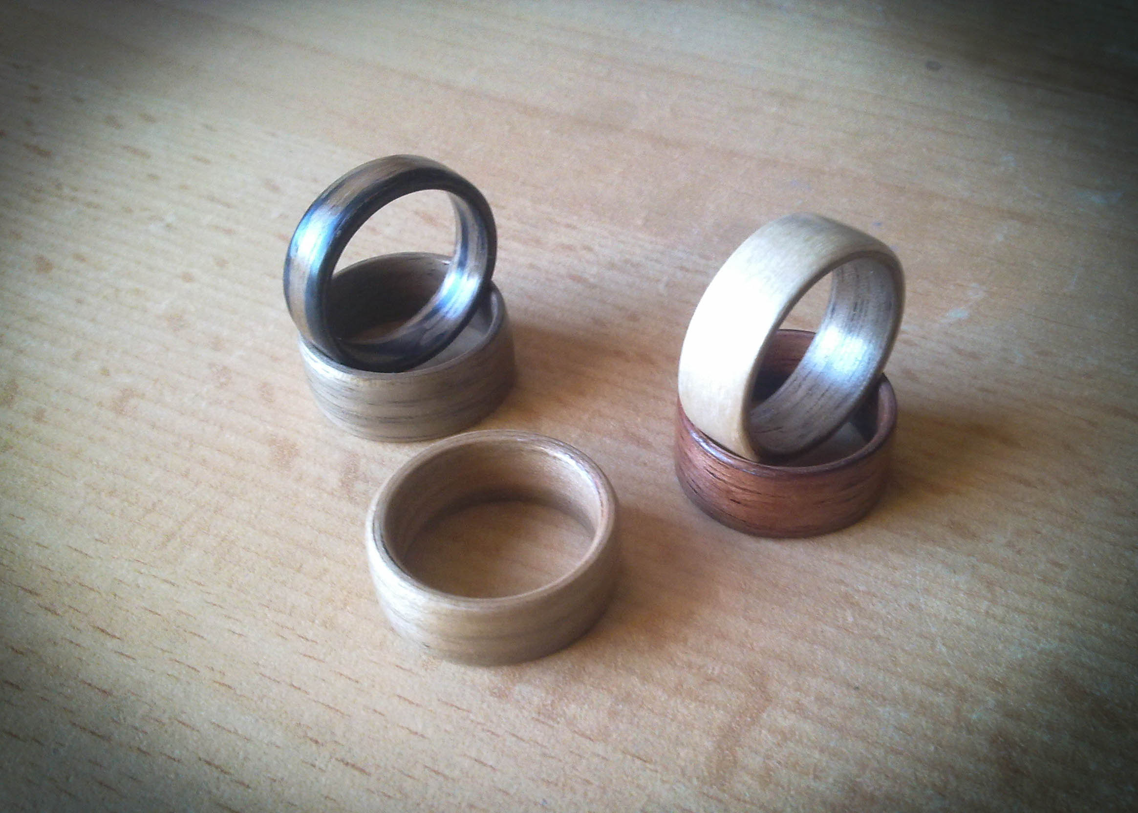 How to make a bentwood ring (wooden ring made from veneer) videos