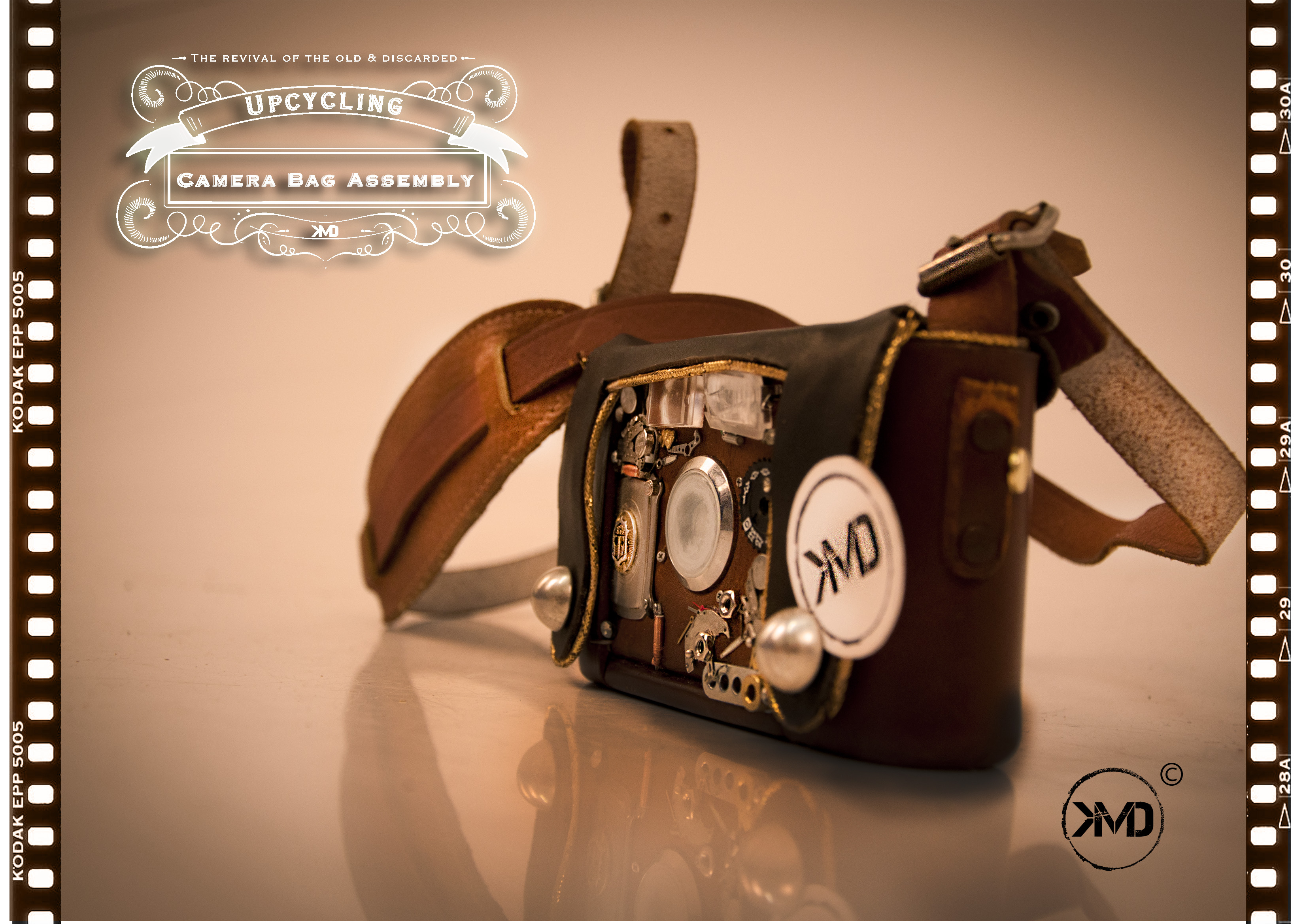 Upcycled Camera Clutch Bag
