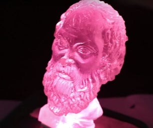 Resin Casted Socrates Bust From a Fridge Magnet