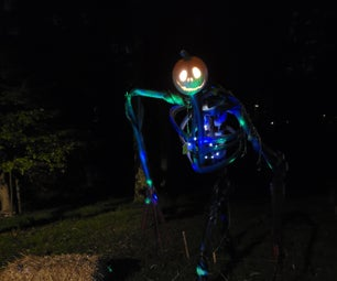 Pumpkin Skeleton From PVC and Pool Noodles