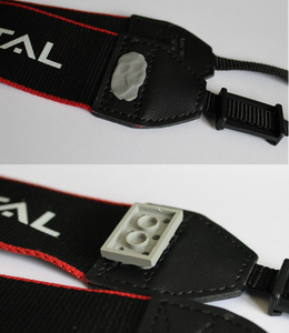Attaching the Flat Lego to the Camera Strap