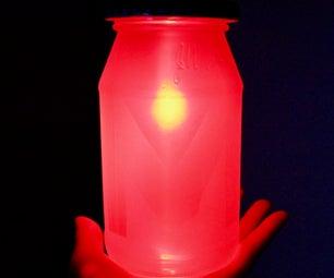Colourful RGB Mason Jar Night Lamp