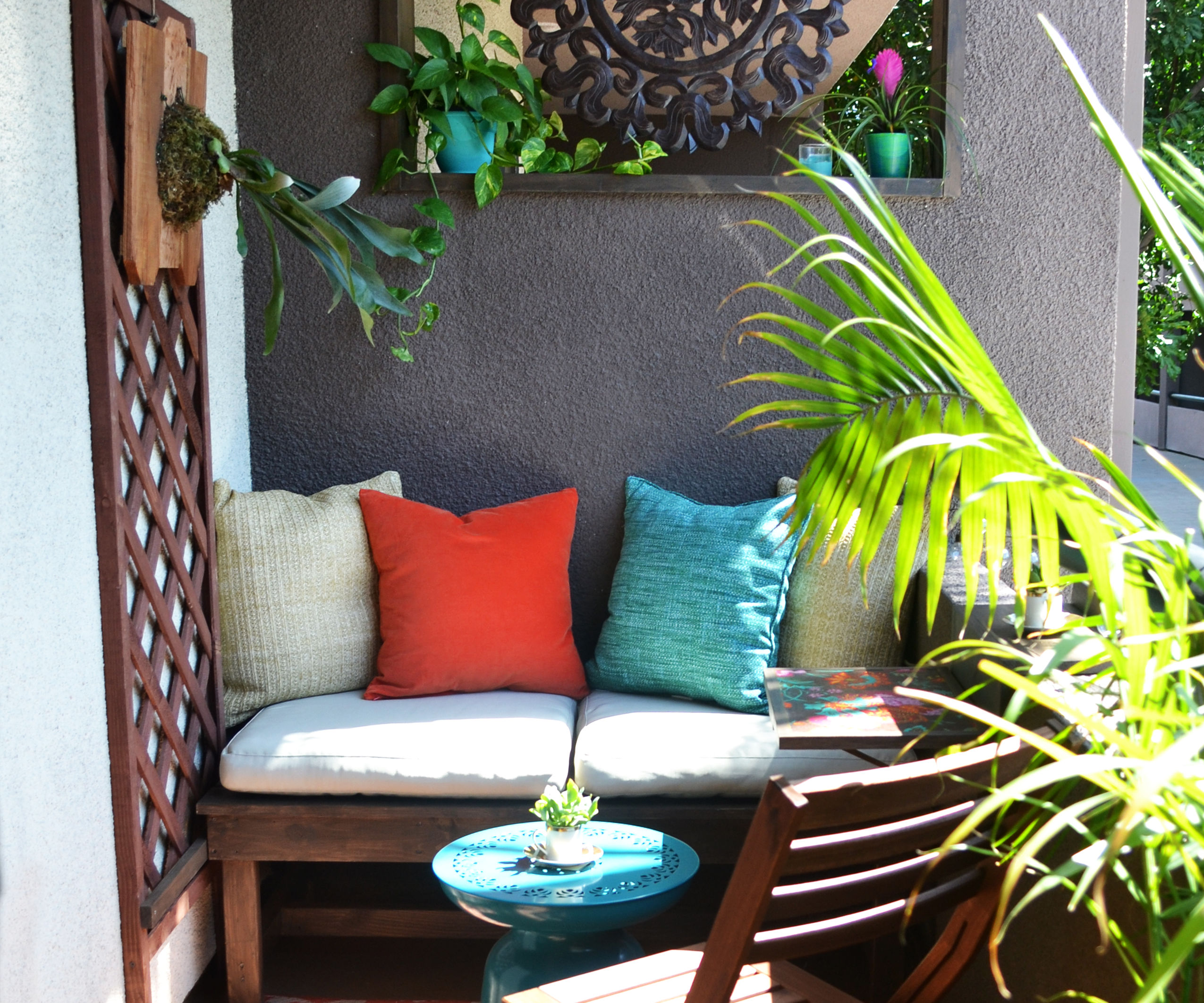 Small Rental Balcony Makeover on a Budget: Before and After