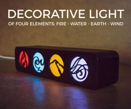 The Decorative Light of Four Elements
