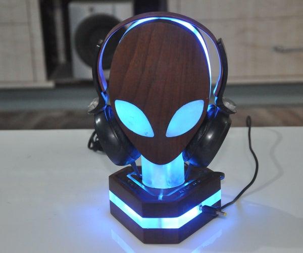 RGB Alienware Headphone Stand