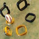 3D Printed Squared Rings or Earrings