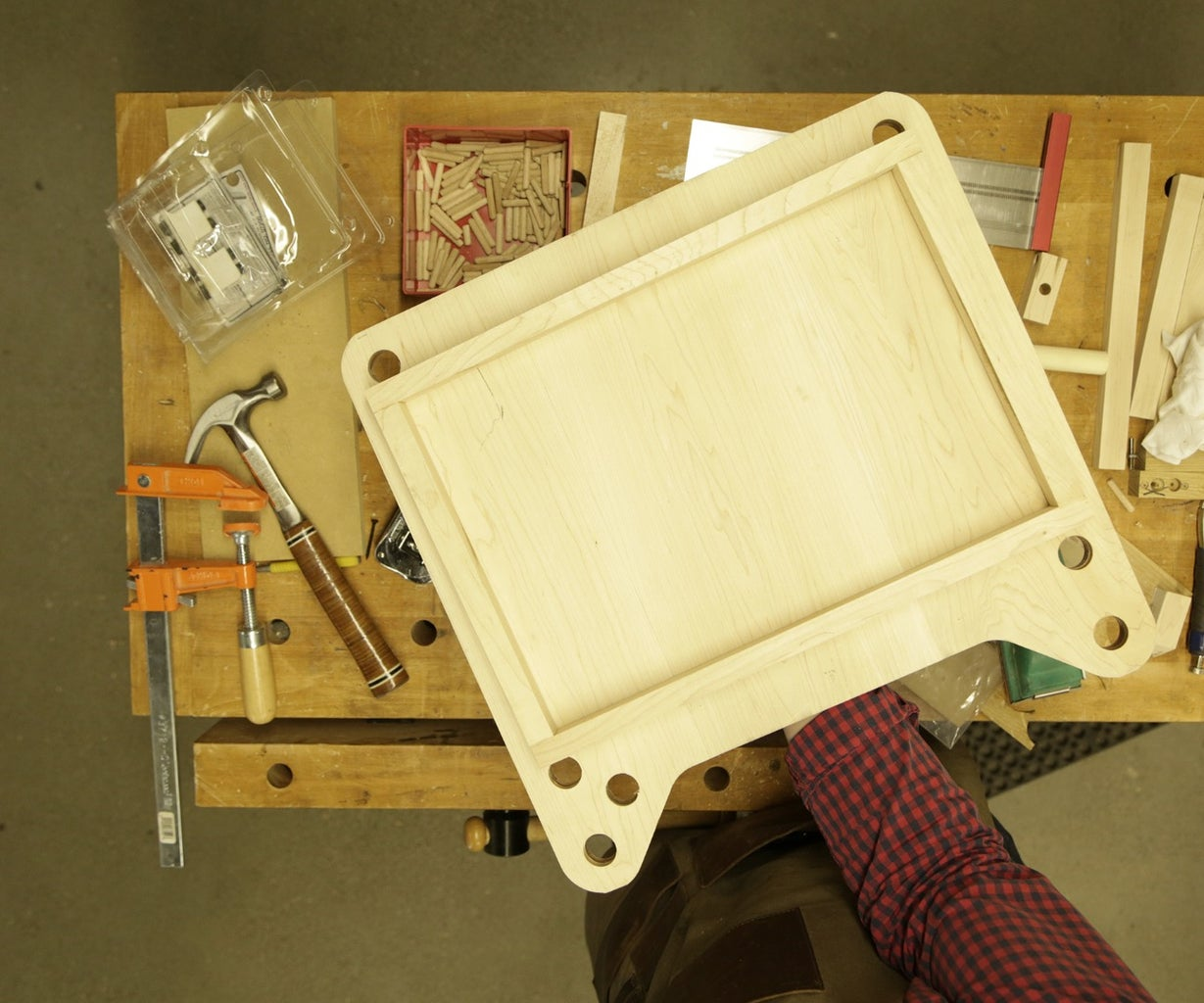Assemble and Attach the Tray