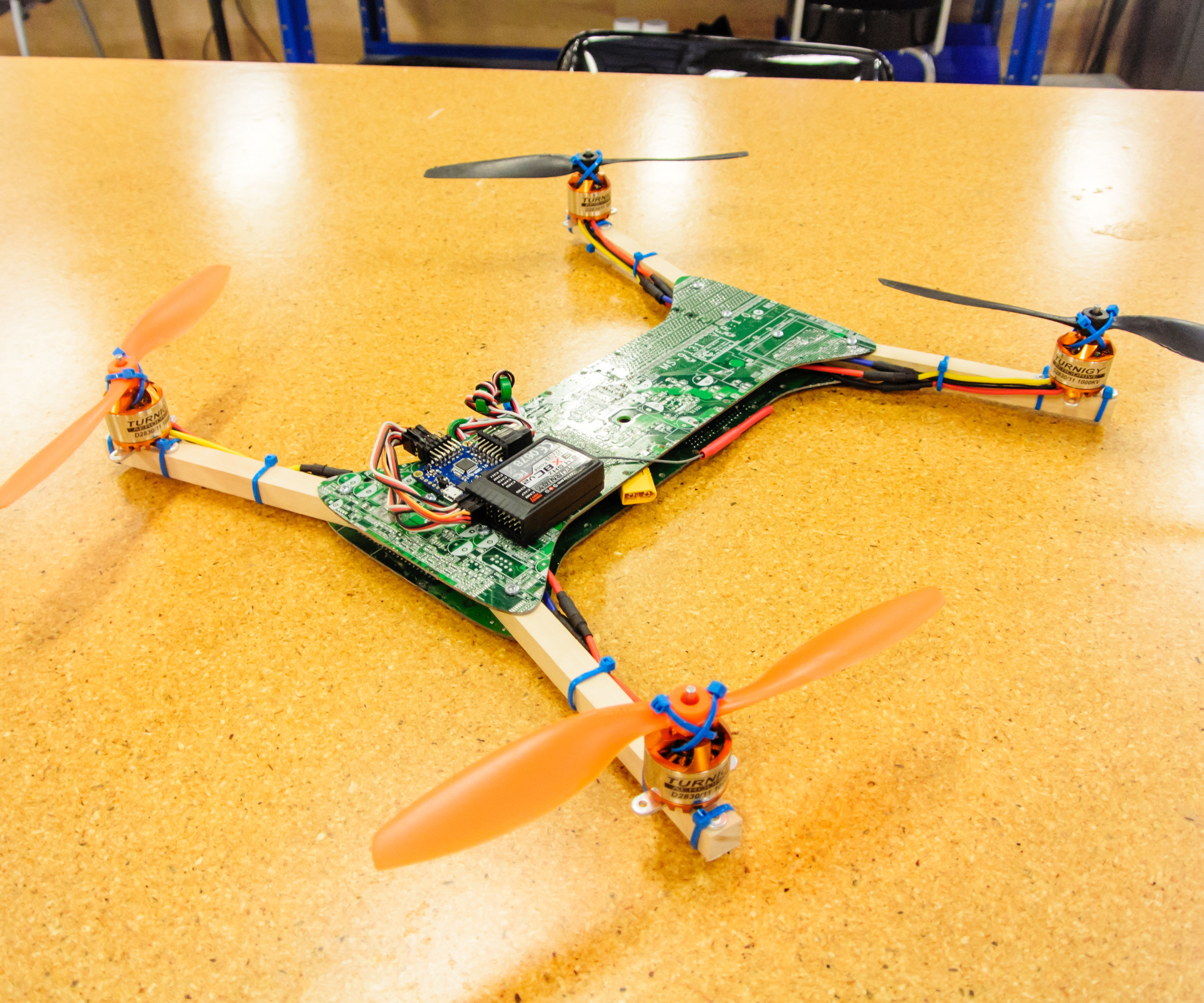 Recycled Motherboard RC Quadcopter