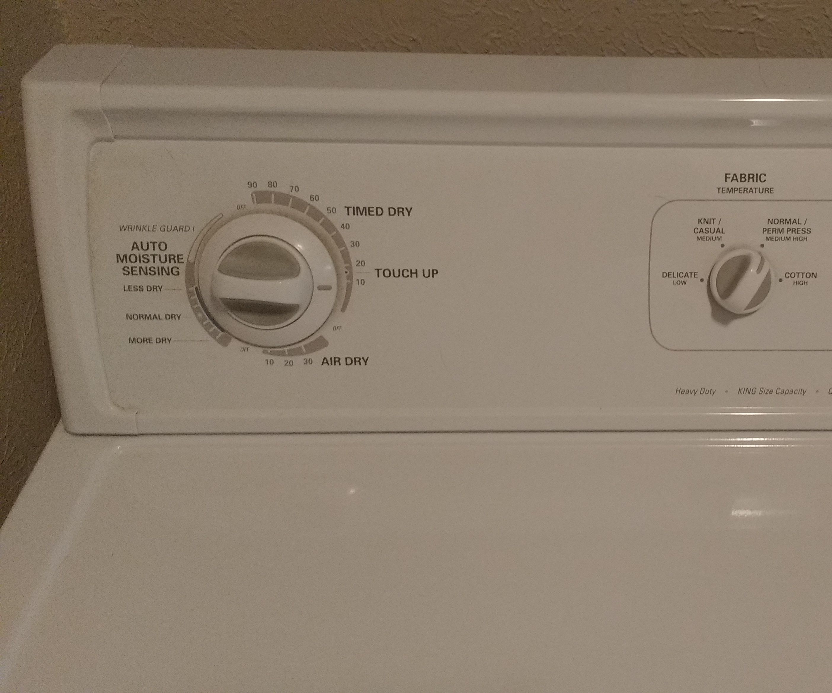 Replacing the Thermostat in a Kenmore Series 90 Dryer (Electric) Made by Whirlpool