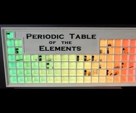 Interactive LED Periodic Table
