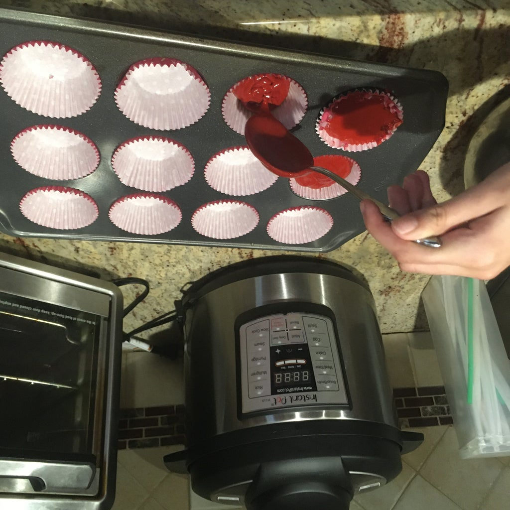 Put the Cupcake Liner in the Cupcake Pan and Pour the Mix Into the Cupcake Liner.