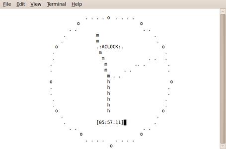 Ascii Analog Clock.