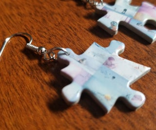 How to Make Upcycled Puzzle Piece Earrings