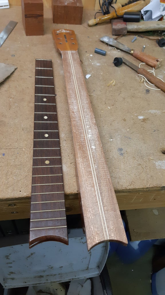 """Change the Fretboard to Make It a 21"""" Scale Length Guitar"""