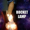 Wood-turned Rocket Lamp