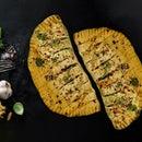 简单的豌豆奶酪大蒜面包
