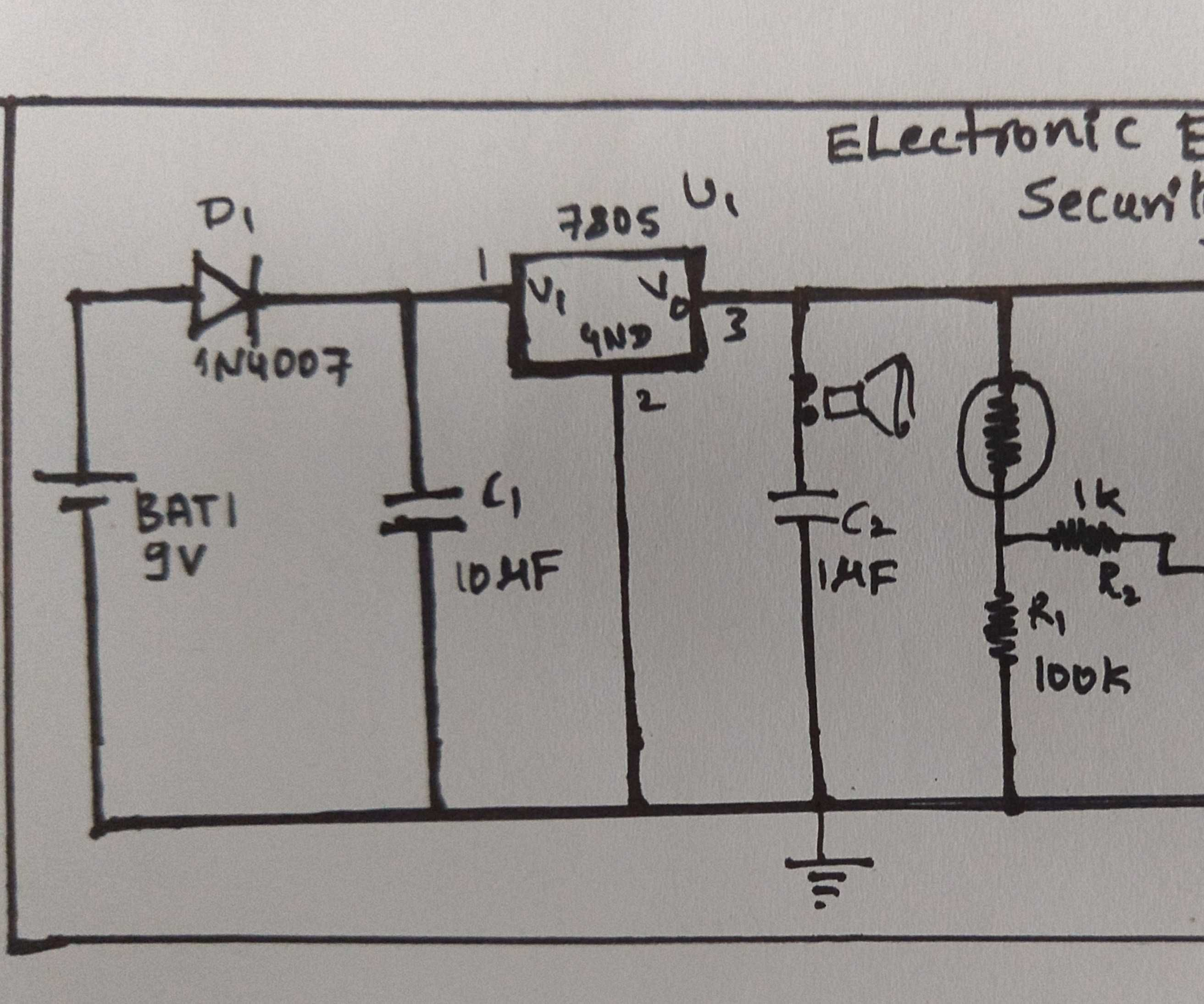 Electronic Eye Controlled Security System