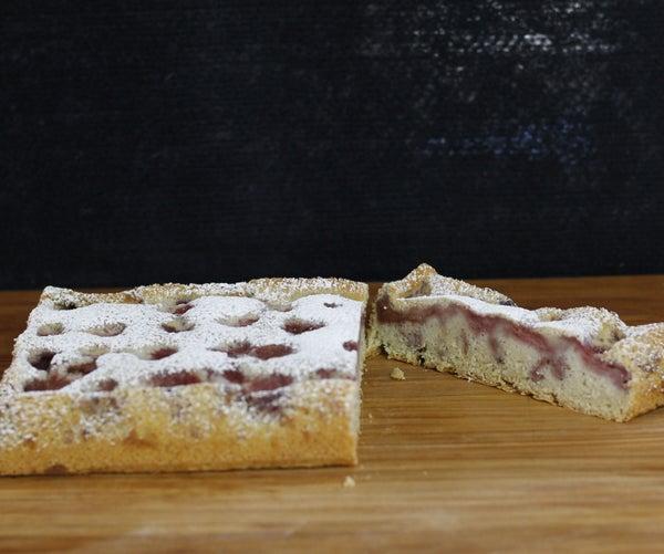Sourdough Vanilla Strawberry Cake