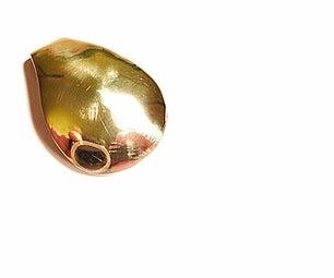 Brass Teardrop Pendant
