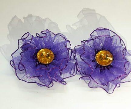 Красивые! Нежные! Заколки Для Волос! Hair-pins-flowers for Hair. DIY.